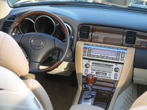 Luxury car convertible interior 2 Royalty Free Stock Image