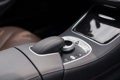 Luxury car dark control panel. In luxury car Stock Photo