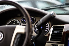 Luxury car dashboard Stock Photography