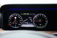 Luxury car dashboard Royalty Free Stock Image