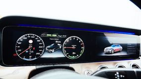 Luxury car dashboard Stock Images