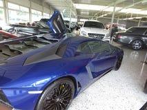 Lamborghoni Avendator SV. Luxury car dealer. Luxury car dealer. Lamborghoni Avendator SV. Expensive cars. Rich men toys royalty free stock image