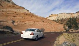 Luxury car driving in Utah. Stock Photography