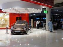 Luxury car exposed on Dubai International Airport Royalty Free Stock Photo
