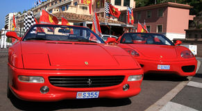 Luxury car Ferrari in Monaco Stock Images