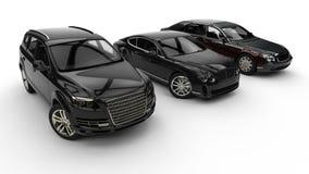 Luxury car fleet Stock Photo