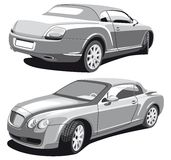 Luxury car_grayscale Stock Photos