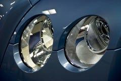 Luxury Car head lights. New Bentley, Rolls Royce motor car grill and head lights Royalty Free Stock Photo