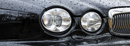 Luxury car headlight Royalty Free Stock Image