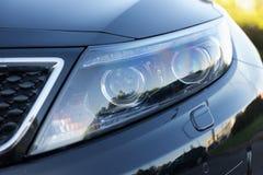 Luxury car headlight stock photo