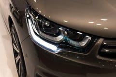 Luxury car headlight detail close-up Stock Photo