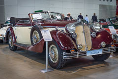 Luxury car Horch 853A Cabriolet, 1938. Royalty Free Stock Photos