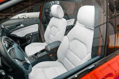 Luxury car interior angle shot Royalty Free Stock Image