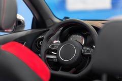 Luxury car interior angle shot Royalty Free Stock Image