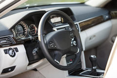 Luxury car interior Stock Images