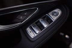 Luxury car interior details Stock Image