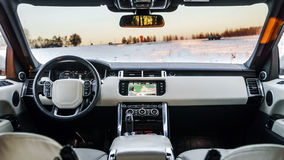 Luxury car interior details Royalty Free Stock Image