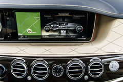 Luxury car interior details Royalty Free Stock Photo