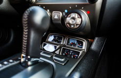 Luxury car interior details Stock Image