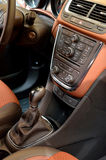 Car brown interior details Royalty Free Stock Images