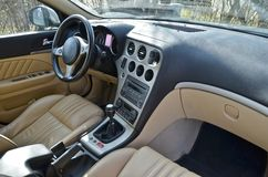 Luxury car interior Stock Images