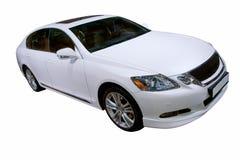 Luxury car isolated. White luxury car isolated with clipping path Stock Photos