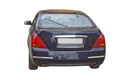 Luxury car isolated on white. Shiny luxury car isolated on white background royalty free stock photo