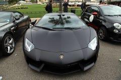 Luxury car Lamborghini near Monte-Carlo Casino, Monaco. Royalty Free Stock Images