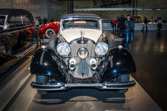 Luxury car Mercedes-Benz 540K (W24) Cabriolet B, 1937. Royalty Free Stock Images