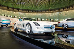 Luxury car Mercedes-Benz SLS AMG Coupe Electic Drive, 2012 Stock Photo