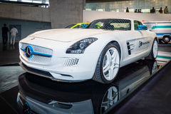 Luxury car Mercedes-Benz SLS AMG Coupe Electic Drive, 2012 Stock Images
