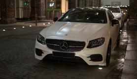 Luxury car Mercedes-Benz  E-Klasse white color