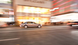 Luxury car motion blur Stock Photos
