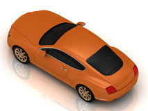 Luxury car orange Stock Photography