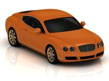 Luxury car orange. Stock Photos