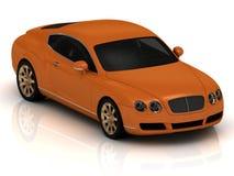 Luxury car orange. Stock Photos