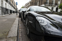 Luxury car parked Royalty Free Stock Photography