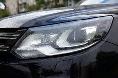Luxury car rear light- closeup view Royalty Free Stock Photos