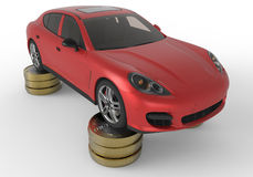 Luxury car repair costs concept Royalty Free Stock Photos