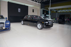 Luxury car from Rolls Royce in automobile exhibition Stock Images