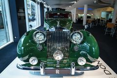 Luxury car Rolls-Royce Phantom IV sedanca de ville limousine, 1952. Coachwork by Hooper of London. Stock Photos