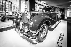 Luxury car Rolls-Royce Phantom IV sedanca de ville limousine, 1952. Coachwork by Hooper of London. Royalty Free Stock Photography