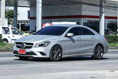 Luxury car, Silver Mercedes  CLA 180 Untamed. CHIANG MAI, THAILAND -DECEMBER 1 2016: luxury car, Silver Mercedes  CLA 180 Untamed. Photo at radial road no.1001 Stock Photos