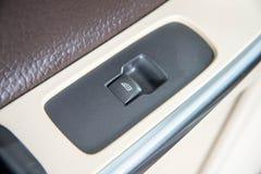 Luxury car single windows switch stock image