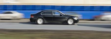 Luxury car speed. A luxury german audi car speeds fast Stock Image
