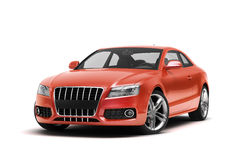 Luxury car in the studio Stock Image