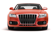 Luxury car in the studio Royalty Free Stock Photo