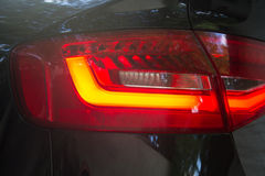 luxury car tail lights Royalty Free Stock Images