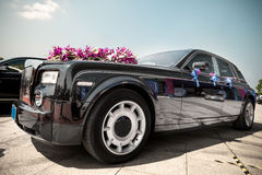 Luxury car in wedding Stock Image