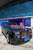 Luxury car in wedding Royalty Free Stock Photos